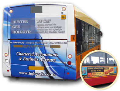 advertise on a Stephenson's of Easingwold bus